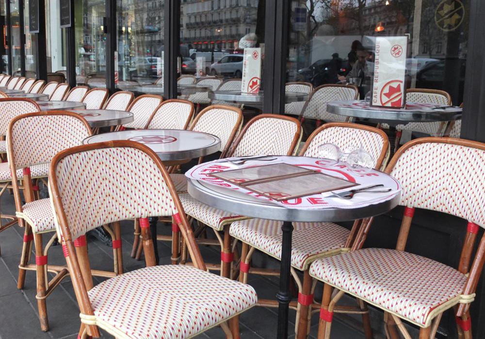 Rotan Franse terrasstoelen parijs