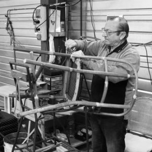 montage onderdelen franse terrasstoel