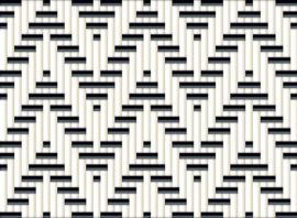 weefpatroon double chevron